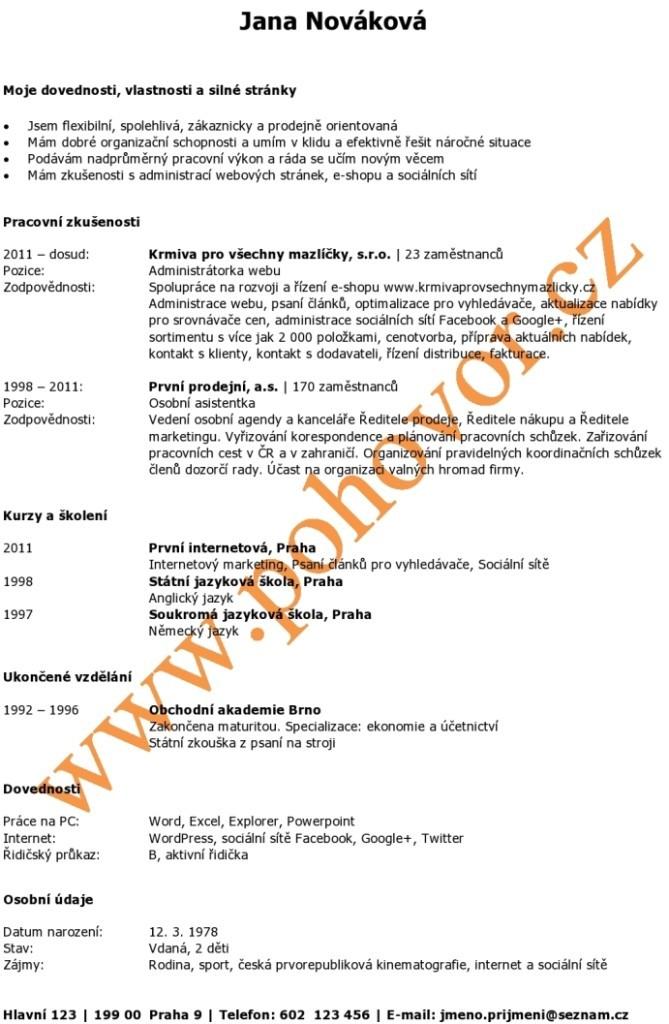 Zivotopis_standard_POHOVOR_CZ